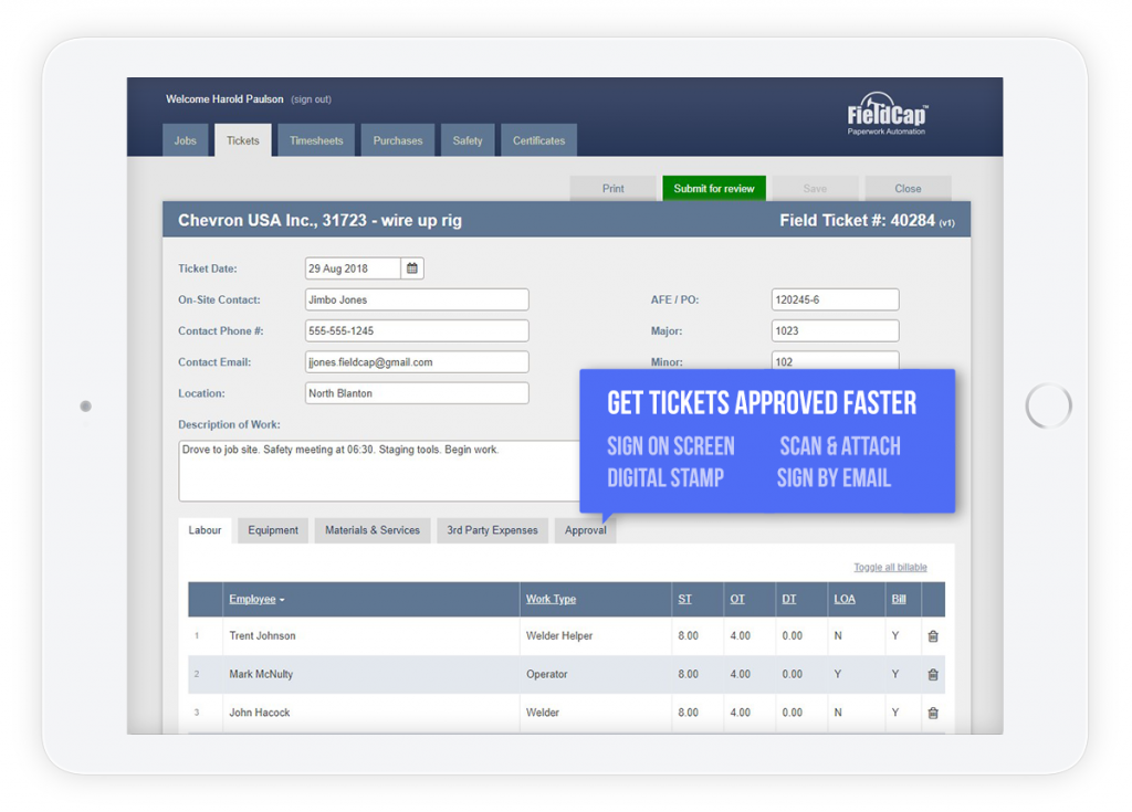 oilfield field ticketing software