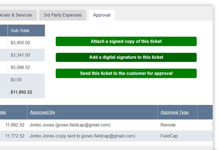Field Ticket Software